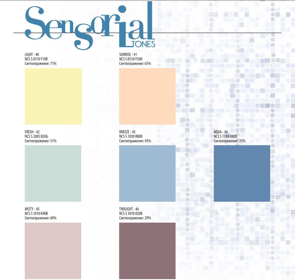 Rockfon Color-all Sensorial tones