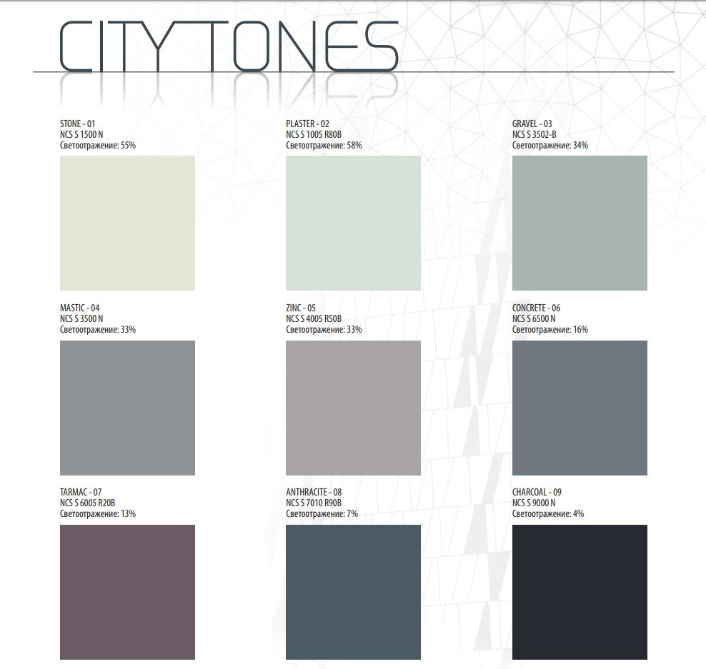 Rockfon Color-all city tones